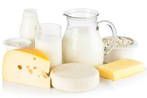 Sữa và các thực phẩm từ sữa là lựa chọn hàng đầu