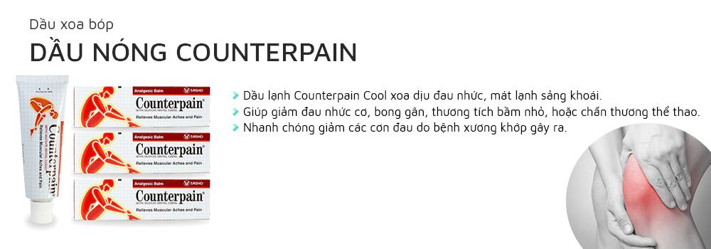Dầu xoa bóp Counterpain Cool mang lại sự khỏe mạnh và linh hoạt cho người sử dụng