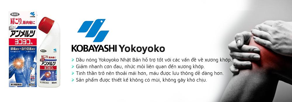 Dầu nóng Yokoyoko hỗ trợ giảm đau nhức, đau xương khớp nhanh