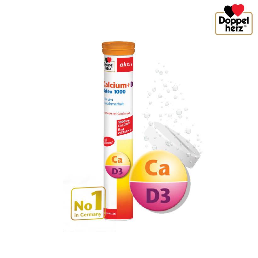 Doppelherz Calcium + D3 Osteo 1000 giúp bổ sung Canxi và Vitamin D3 nhanh chóng
