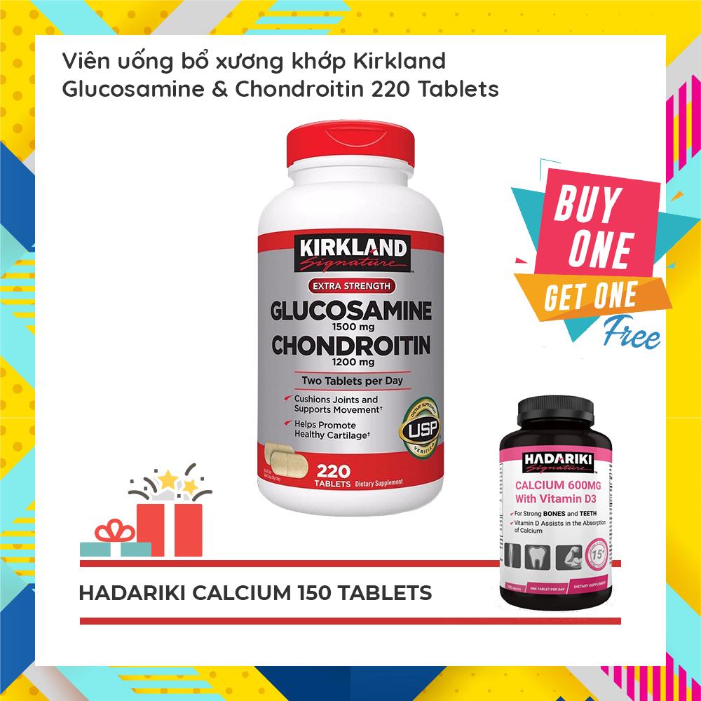 KirklandGlucosamine 1500mgChondroitin 1200mg đang có khuyến mãi mua 1 tặng 1