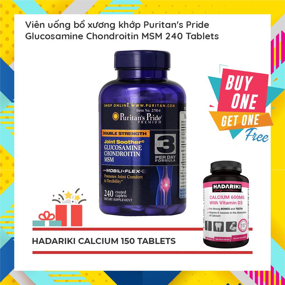 Puritan'sPride Glucosamine Chondroitin MSM đang có khuyến mãi mua 1 tặng 1