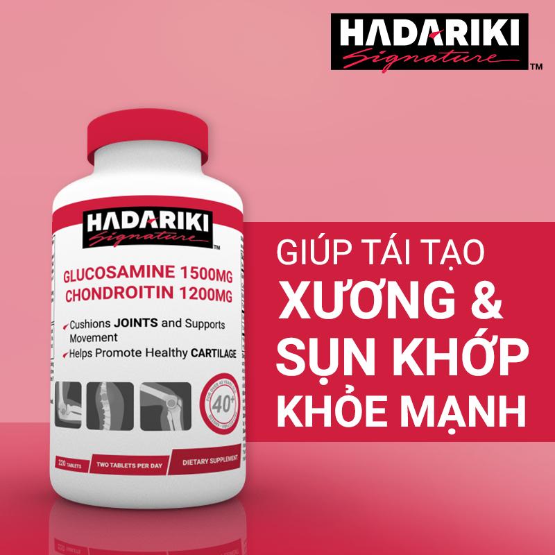 Hadariki Signature Glucosamine 1500mg Chondroitin 1200mg bảo vệ xương khớp toàn diện