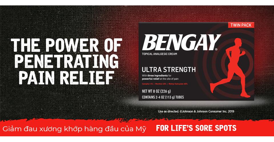 Kem xoa bóp Bengay Ultra Strength 226g được tin dùng tại Mỹ