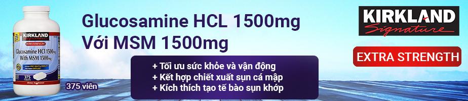 Glucosamine HCL 1500mg, MSM 1500mg tăng cường sức khỏe xương khớp hiệu quả