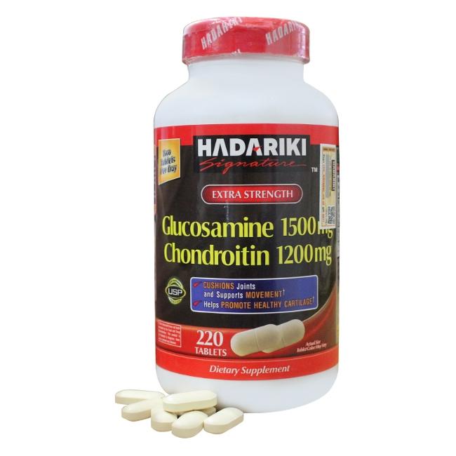 Viên uống bổ khớp Hadariki Glucosamine 1500mg Chondroitin 1200mg giá 539 000 VND