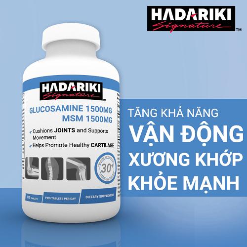 Hadariki Glucosamine 375 viên lựa chọn hàng đầu cho xương khớp
