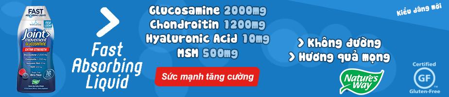 Wellesse Joint Movement Glucosamine là sản phẩm Glucosamine dạng nước