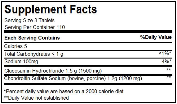 thành phần glucosamine 240 viên