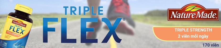 Nature Made Triple Flex hỗ trợ sức khỏe xương khớp với 2 viên mỗi ngày