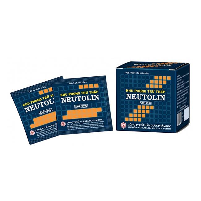 Khu Phong Trừ Thấp NEUTOLIN điều trị đau nhức toàn thân, Hộp 10 gói x 10gr