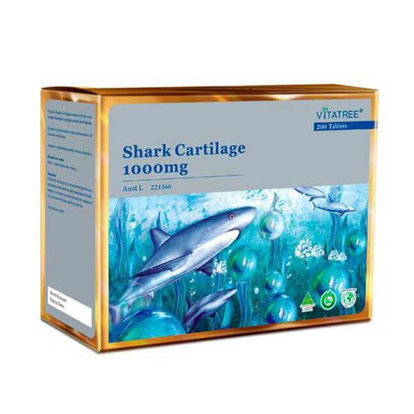 Sụn cá mập Vitatree Shark Cartilage 1000mg hỗ trợ xương khớp, Chai 200 viên