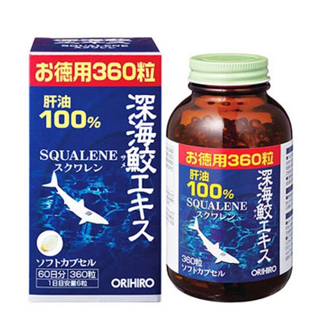 Sụn cá mập Orihiro Squalene Nhật Bản (Chai 360 viên)