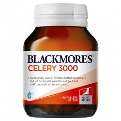 Blackmores Celery 3000mg - Hỗ trợ điều trị Gout, Chai 50 viên