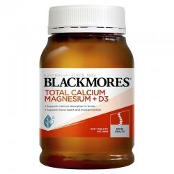 Blackmores Total Calcium Magnesium + D3, Chai 200 viên