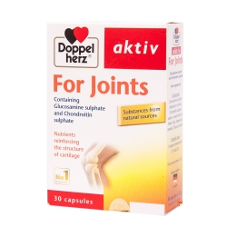 Doppelherz Aktiv For Joints Glucosamine 1500mg Chondroitin 200mg, Hộp 30 viên