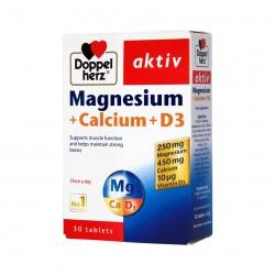 Doppelherz Magnesium + Calcium + D3 ngừa loãng xương, Hộp 30 viên