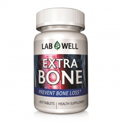 Lab Well Extra Bone bổ sung Calcium và Vitamin ngừa loãng xương, Chai 60 viên