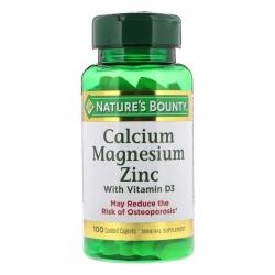 Nature's Bounty Calcium Magnesium Zinc With D3, Chai 100 viên