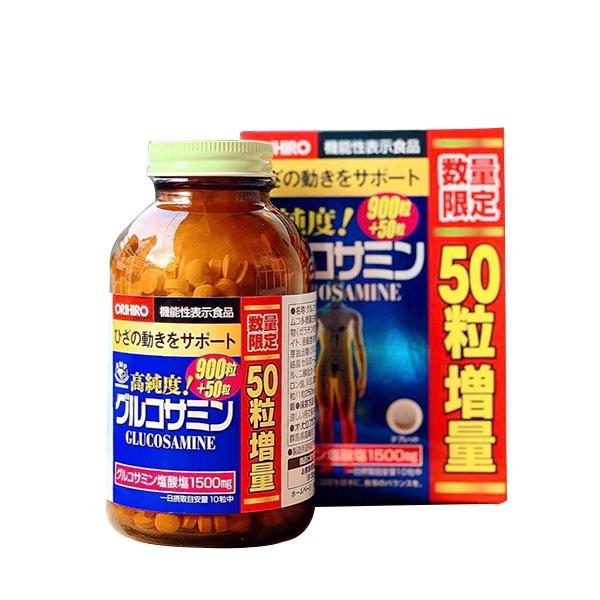 Orihiro Glucosamine 1500mg Nhật Bản (Mẫu mới Chai 950 Viên)