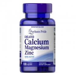Puritan's Pride Chelate Calcium Magnesium Zinc, Chai 100 Viên