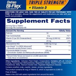 Tpbvsk xương khớp Osteo Bi-Flex Triple Strength + Vitamin D, Chai 120 viên