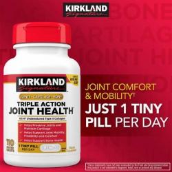 Viên Uống Hỗ Trợ Xương Khớp Kirkland Triple Action Joint Health