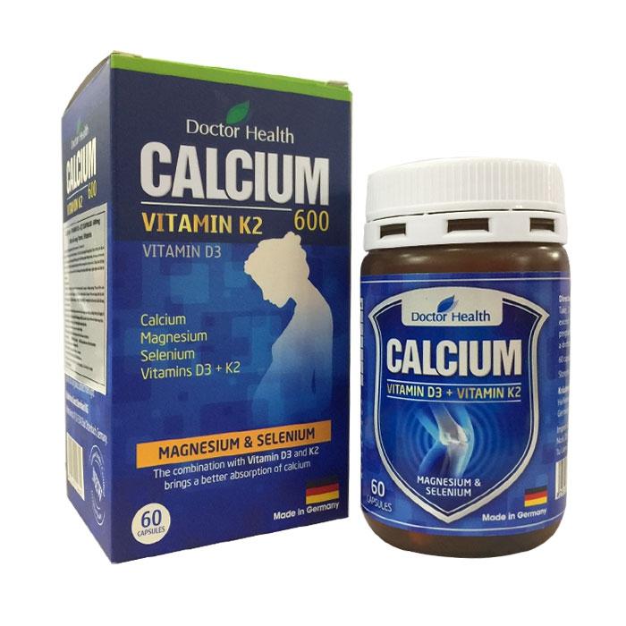Viên bổ sung Doctor Health Calcium + D3 + K2 60 viên